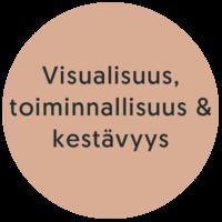 Visuaalisuus, toiminnaalisuus & kestävyys